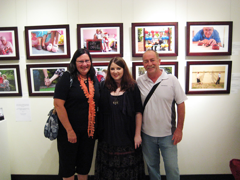 Forever Young Exhibition - Laura Tuton with Mum and Dad
